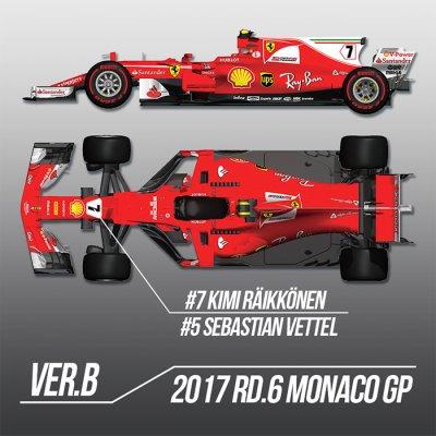画像1: MFH 1/12 フェラーリ SF70H Ver.B 2017 モナコGP
