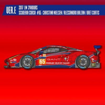 画像1: MFH 1/24 フェラーリ 488 GTE Ver.E 2017 LM Scuderia Corsa