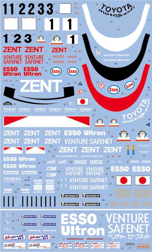 SHUNKO MODELS シュンコモデル SHK-D362 1/24 TS020 1999 デカールセット
