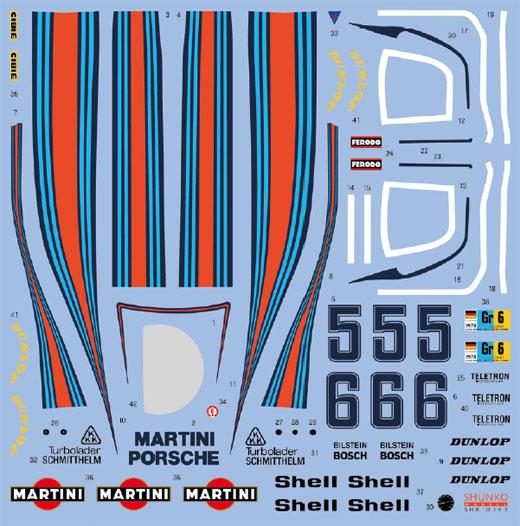 SHUNKO MODELS シュンコモデル SHK-D383 1/24 マルティニ ポルシェ 936/78 1978 LM デカールセット タミヤ対応