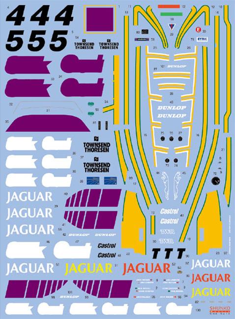 SHUNKO MODELS シュンコモデル SHK-D416 1/24 ワークスチーム XJR-8 スプリント 1987 デカールセット ハセガワ対応