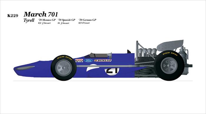 モデルファクトリーヒロ MFH K228 K229 K230 1/20 マーチ 701