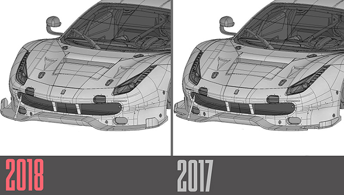 モデルファクトリーヒロ MFH 1/24 フェラーリ 488 GTE 2018