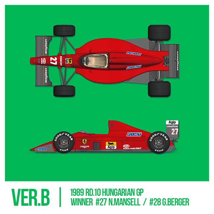モデルファクトリーヒロ MFH 1/12 フェラーリ F1-89 (640)