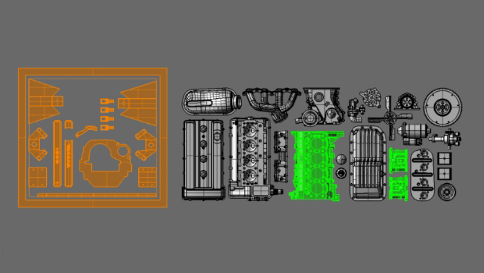 SMC 1/24 2T-G エンジンキット