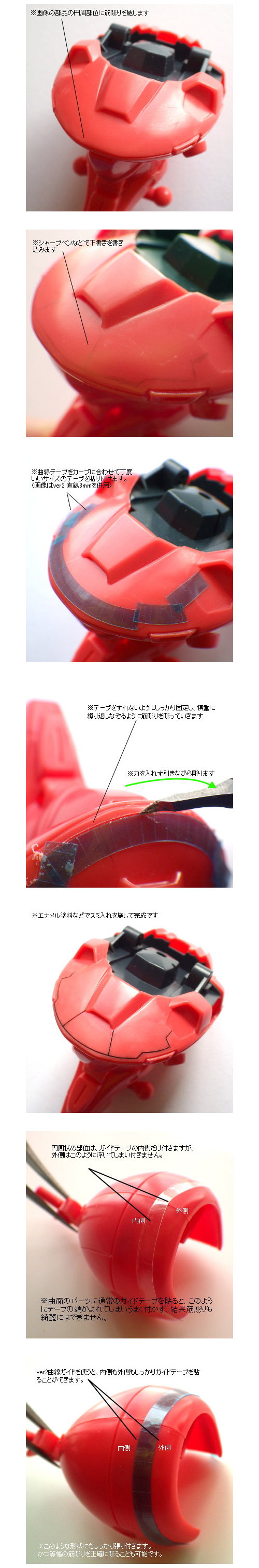 GUNPRIMER ガンプライマー パネルラインガイド ver.2 曲線ガイド