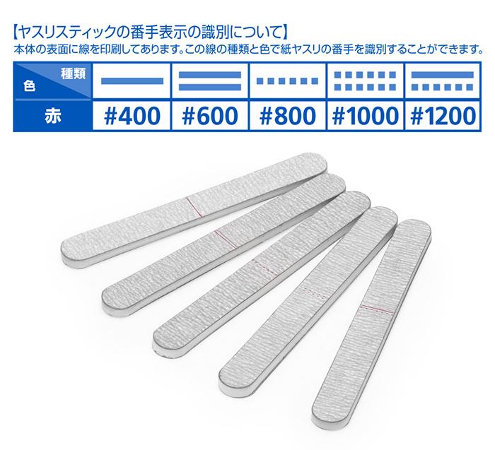ウェーブ HT-629 ヤスリスティック ハード2 細型 #1000